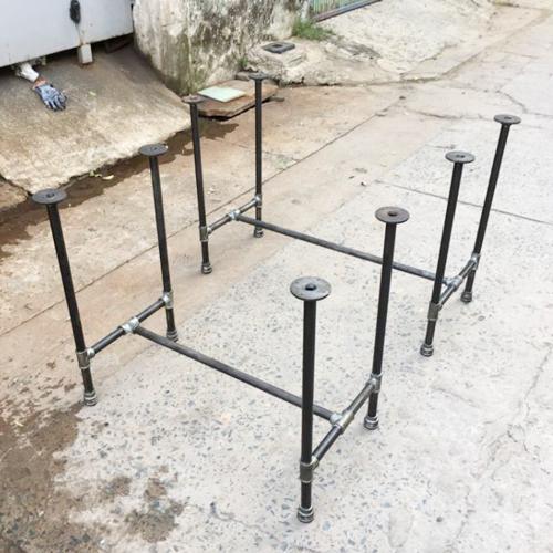 CON002- Chân ống nước sắt cho bàn 1mx60cm cao 75cm