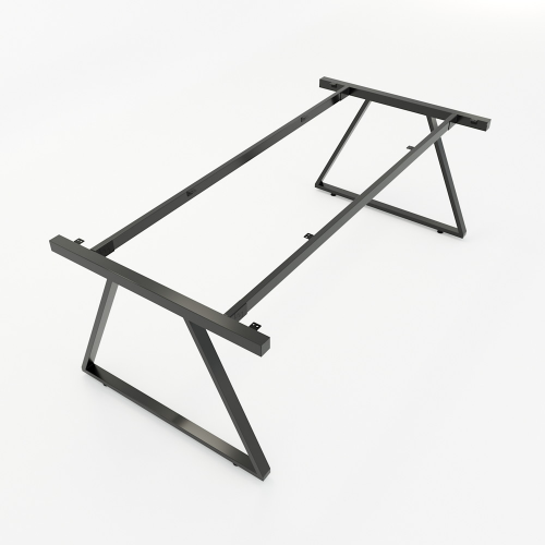 HCTH012 - Chân bàn họp hệ Trapeze II Concept 200x100 lắp ráp
