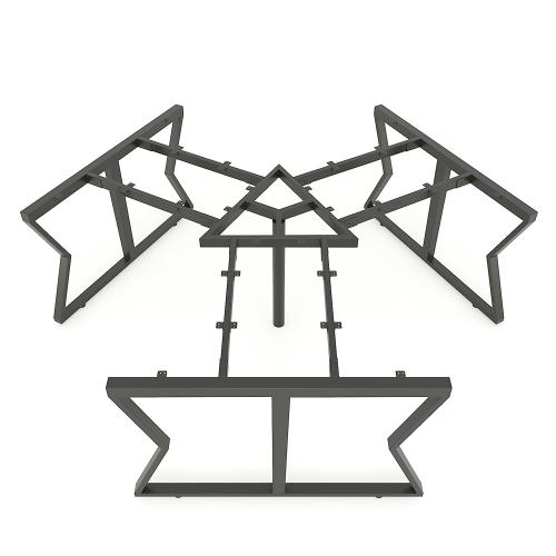 HCMC026 - Chân bàn cụm 3 236x205mm hệ MConcept lắp ráp