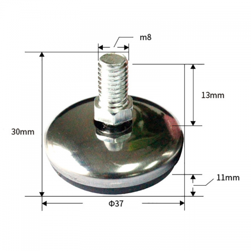 PKCT007 - Chân bàn inox để nhựa cao 11mm