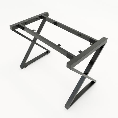 Chân bàn đơn giản sắt 25x50 lắp ráp chữ X