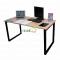 BNVCN78004- Bàn 1.4mx70cm gỗ cao su chân sắt 25x50 lắp ráp