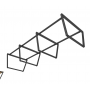 HCTC022 - Chân bàn cụm 6 360x120 hệ Trapez Concept lắp ráp