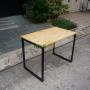 BNVCN78005- Bàn 1mx60cm gỗ cao su chân sắt 20x40mm lắp ráp
