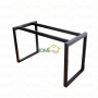 BNVCN78001- Bàn gỗ cao su chân sắt 25x50 lắp ráp 120x60x75cm