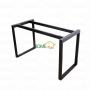 BNVCN78002 - Bàn 1mx60cm gỗ cao su chân sắt 25x50 lắp ráp