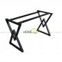 BNVCN78003- Bàn 1mx60cm gỗ cao su chân kim cương lắp ráp