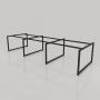 NVCV018 - Chân bàn nhân viên 3600x1200mm sắt vuông quỳ 40x40 lắp ráp