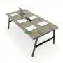 HBAC012 - Bàn họp 200x100 AConcept lắp ráp